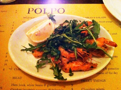 polpo chilli garlic prawns