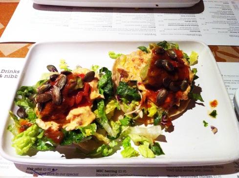 wahaca chicken tostadas