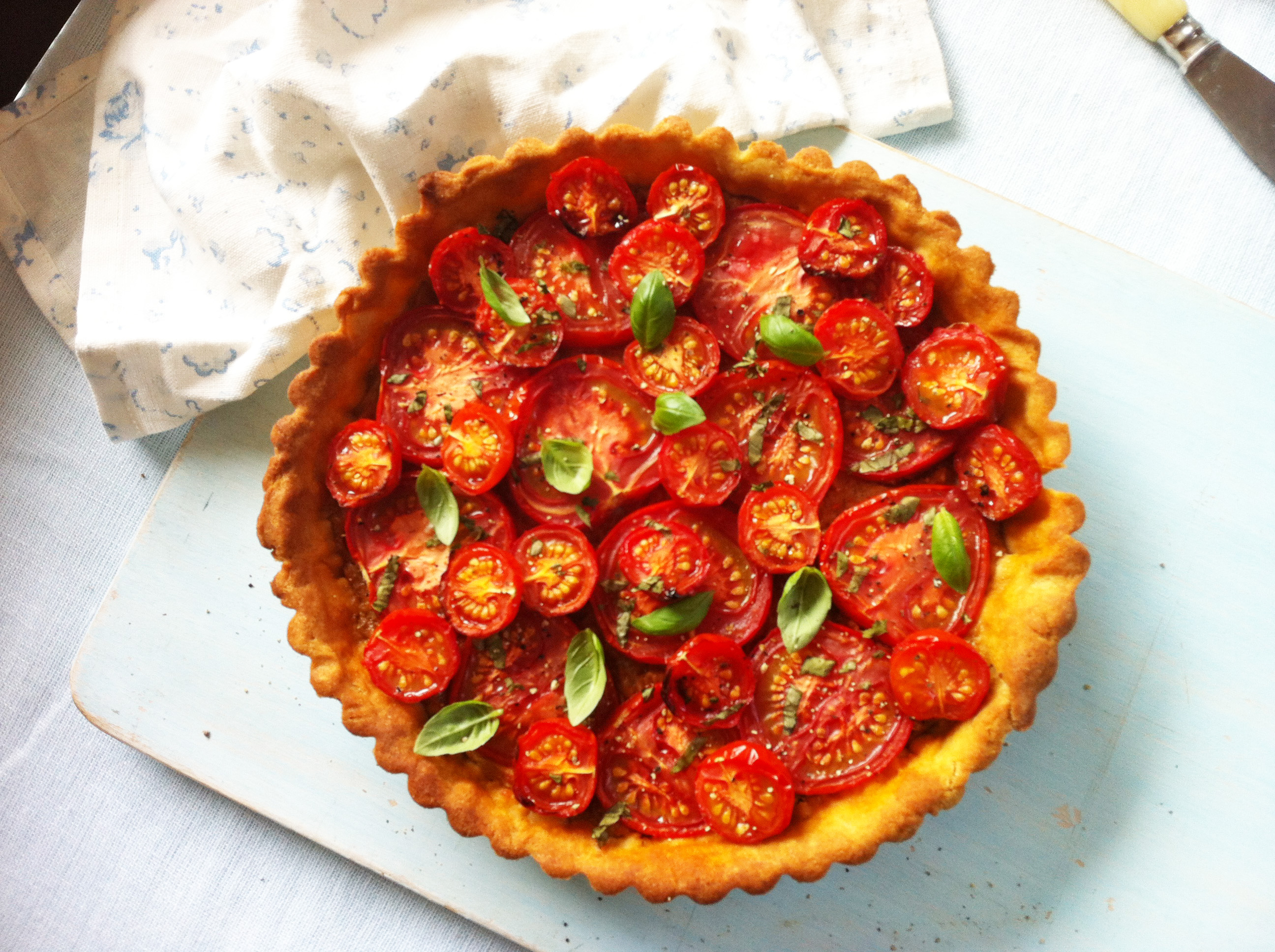 tomato tart shoot